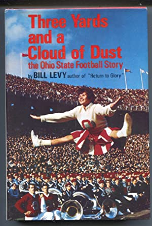 Three Yards And A Cloud Of Dust 1966-Bill Levy-football history-hard cover w/ dust jacket-1st ed.-VF