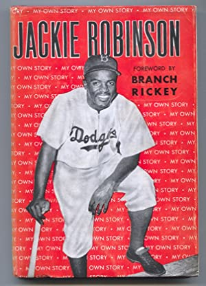 Jackie Robinson My Own Story 1948-Branch Rickey-baseball history-hard cover w/ dust jacket-VG+