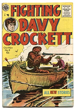 Fighting Davy Crockett #9 1955- Avon Western- 1st issue of title VG/F