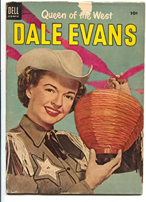 Queen of The West Dale Evans #4 1954-Dell-portrait photo cover-Russ Manning-G-