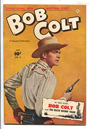 Bob Colt Comics #2 1951-Fawcett-front and back photo covers-VF-