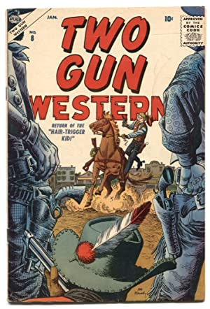 Two Gun Western #8 1957- Maneely cover- Atlas comics FN-