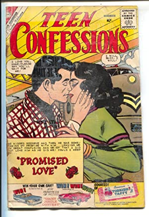 Teen Confessions #8-1960-Charlton-Joe Sinnott railroad cover-10¢ cover price-FR/G