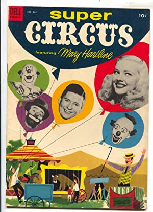 Super Circus-Four Color Comics #542 1954-Dell-based on TV series-Mary Hartline-photo cover-FN