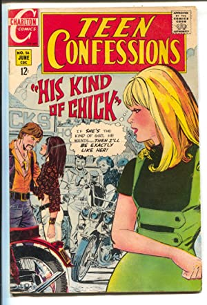 Teen Confessions #56 1969-Charlton-Satans Brothers- Motorcycle Gang-1963 split window Corvette pa...
