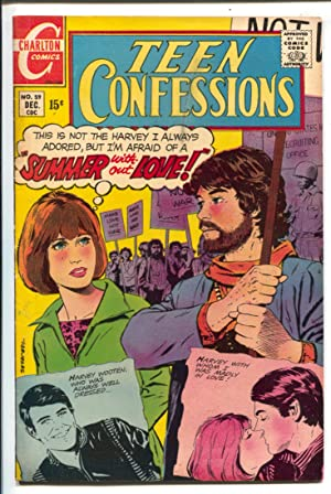 Teen Confessions #59 1969-Charlton-hippies-Viet Nam war protest-swimsuit-1sy Mike Kaluta pro work-VF