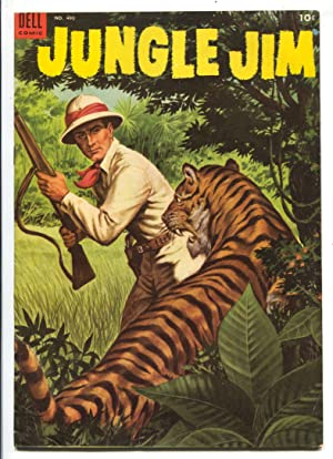 Jungle Jim-Four Color Comics #490 1953-Dell-1st issue-based on Alex Raymond comicstrips-FN/VF