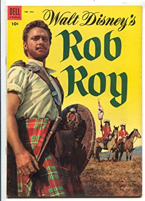 Rob Roy-Four Color Comics #544 1954-Dell-based on Disney film-Richard Todd-photo cover-VF