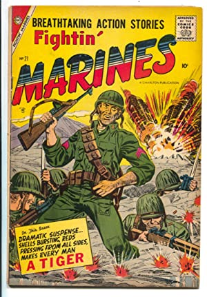 Fightin' Marines #21 1957-Charlton-fight the commiesy-combat cover-VG