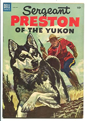 Sergeant Preston of the Yukon #8 1953--Dell-based on TV series-Alberto Gioletti art-RCMP-VF