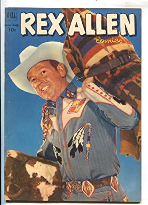 Rex Allen #5 1952-Dell-B-Western movie photo cover-Custer's Last Stand-FN_