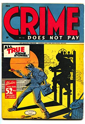 Crime Does Not Pay #42 Electric Chair cover-1945 comic book