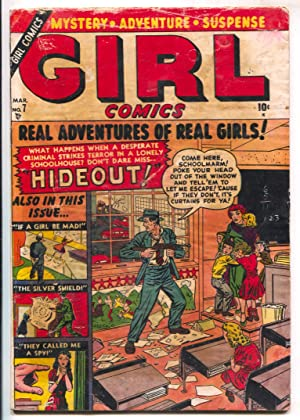 Girl Comics #7 1951-Atlas-Terrorist holds school children hostage on this topical cover-cfime iss...