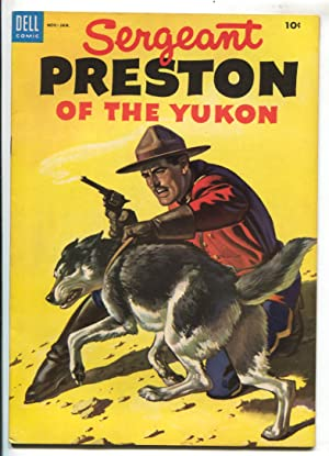 Sergeant Preston of the Yukon #9 1954 -Dell-based on TV series-Alberto Gioletti art-RCMP-VF+