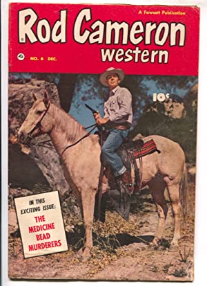Rod Cameron Western #6 1950 Fawcett -B-western film star photo covers-G/VG