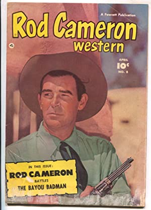 Rod Cameron Western #8 1951 Fawcett -B-western film star photo covers-G