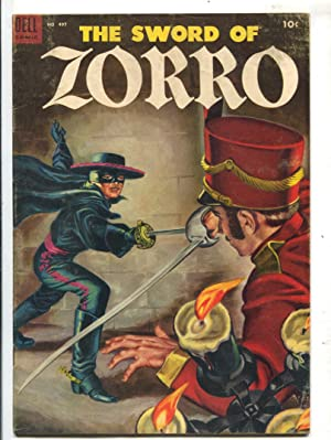 Sword of Zorro-Four Color Comics #497 1953-Dell-Everett Raymond Kunstler art-Jackson McCulley-VG/FN