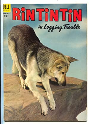 Rin Tin Tin #4 1954- Dell-German Shepherd movie photo cover-Sparky Moore art-FN