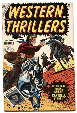 Western Thrillers #4 1955- Snake Cantrell Strikes VG/F
