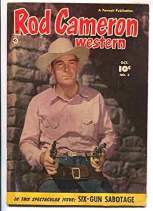 Rod Cameron Western #5 1950 Fawcett -B-western film star photo covers-VG-