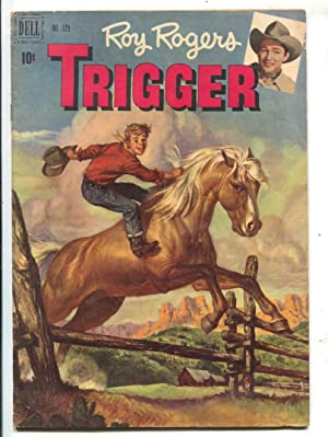Roy Rogers Trigger-Four Color Comics #329 1951-Dell-1st issue-painted covers-photos inside covers-FN