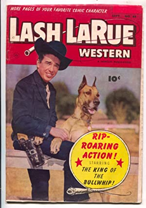 Lash LaRue Western #44-1953-Fawcett-photo cover-B-Western movie film star-King of Bullwhip-G