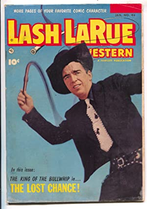 Lash LaRue Western #46-1954-Fawcett-photo cover-B-Western movie film star-King of Bullwhip-G/VG