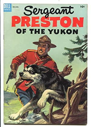 Sergeant Preston of the Yukon #10 1954 -Dell-based on TV series-Alberto Gioletti art-RCMP-VF+