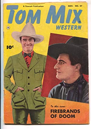 Tom Mix Western #47-1951-Fawcett- B-Western movie star photo cover-VG
