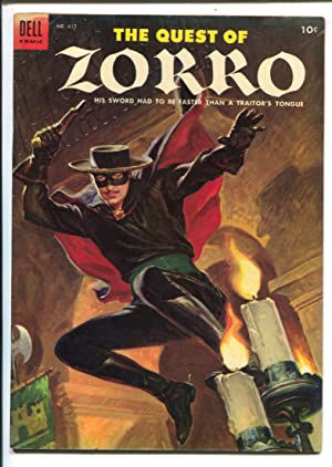 Quest of Zorro-Four Color Comics #617 1955 Dell-Painted cover-Johnston McCulley-FN/VF