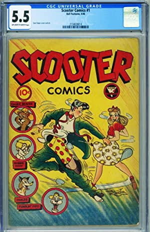 SCOOTER COMICS #1 CGC 5.5-Obscure Canadian Teen comic-GGA-RARE 2134029014