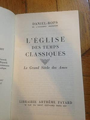 LE GRAND SIECLE DES AMES