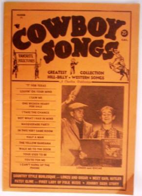 Cowboy Songs Number 71: American Folk Publications
