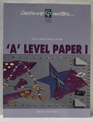 A Level Law Paper I: Cappi, Paul &