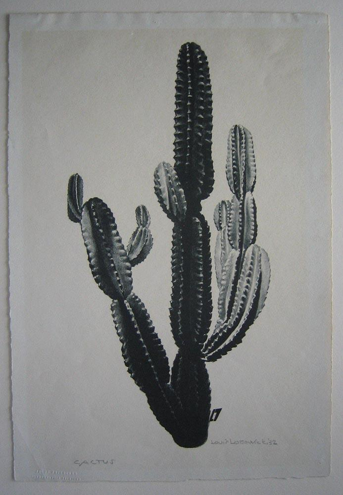 Cactus (SIGNED by Louis Lozowick: Limited Ed. Lithograph of only 15 copies): LOZOWICK, Louis