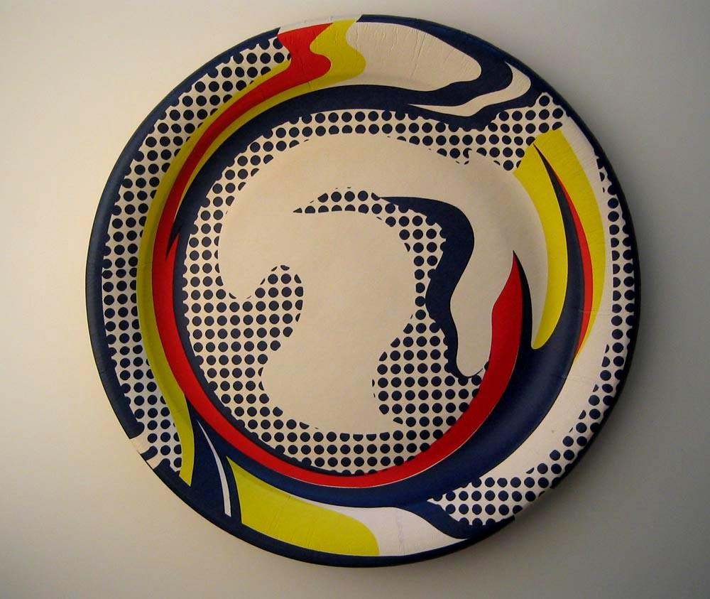 paper plate 1969 screenprint by roy lichtenstein by. Black Bedroom Furniture Sets. Home Design Ideas