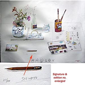 Summer Still Life (SIGNED by Saul Steinberg: Limited Ed. Poster: Typeface Guild Hall Logo)