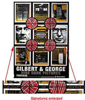 Nine Dark Pictures (SIGNED by Gilbert & George: Limited Ed. offset Poster
