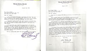 Two Hand Signed Letters by: Edward M.: KENNEDY, Edward M.