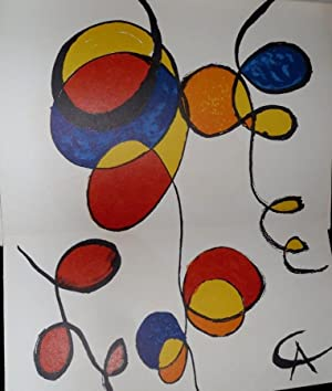 Spirals: Art In America (an original lithograph/print by Alexander Calder)