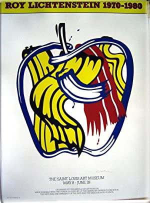 Apple Poster (SIGNED poster by Roy Lichtenstein)