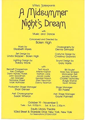 A Midsummer Night s Dream ( flyer from the play with cast: John Goodman / Nathan Lane / ...