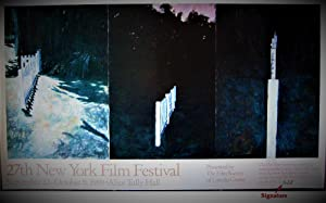 New York Film Fesival (SIGNED by Jennifer Bartlett: Limited Ed. colored poster)