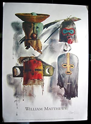 Masks of the Southwest (SIGNED poster by: MATTHEWS, William