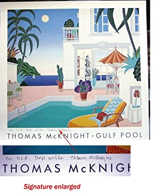 Thomas McKnight. Gulf Pool (SIGNED By Thomas McKnight: an offset poster)