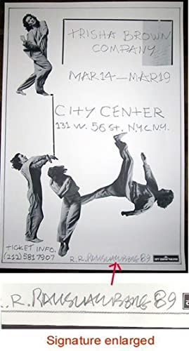 Trisha Brown Company (SIGNED by Robert Rauschenberg: Limited Ed. b&w Poster)