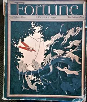FORTUNE MAGAZINE, January 1931: art work by Roderick D. Mackenzie