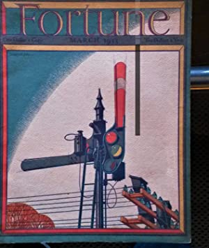 FORTUNE MAGAZINE, March 1933: cigar box labels, 10,000-ton Cruisers