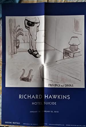 Hotel Suicide (exhibition announcement/poster for Richard Hawkins): HAWKINS, Richard