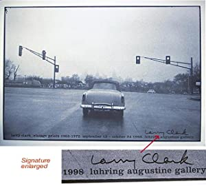 Untitled 1967. Luhring Augustine (SIGNED by Larry Clark: Exhibition Poster: Vintage Prints 1962-1...